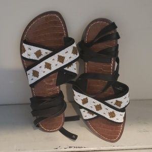 Sam Edelman beaded gladiator flats